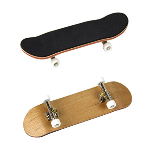 Gbell Mini Fingerboards Finger Skateboard Maple Wood Kids Toy Gifts for Adults Kids Children (White)