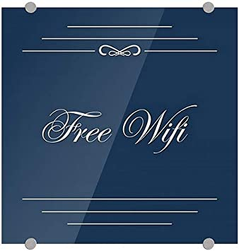 Classic Navy Premium Brushed Aluminum Sign Free WiFi 5-Pack CGSignLab 16x16