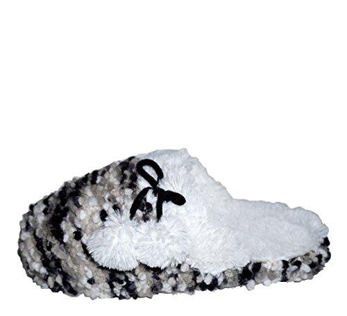Inc International Concepts Popcorn Knit Mujeres Clog Pantuflas Avena / Rosa Grande 9-10
