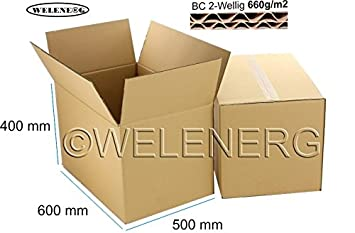 5 x 600 x 500 x 400 mm caja de cartón plegable Cajas de Cartón Post de cartón ondulado de 2 BC 660g/M2: Amazon.es: Oficina y papelería