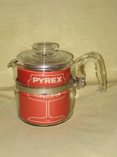 (VINTAGE Corning Pyrex Flameware 4 cup Percolator Coffee Pot)