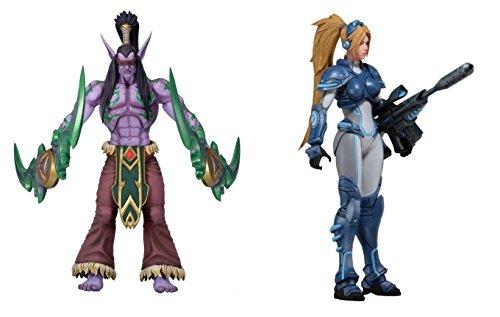 NECA  Blizzard - Heroes Of The Storm Serie Serie Serie 1 - 2er Set mit Illidan und Nova Deluxe Actionfiguren 18cm dcd0bc