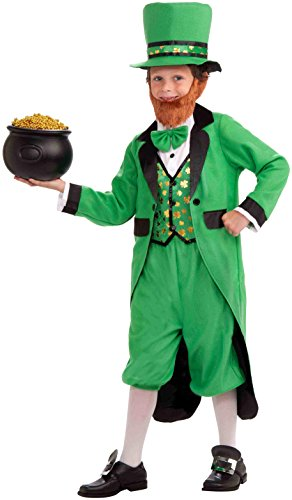 [Forum Novelties Mr. Leprechaun Complete Costume, Child's Medium] (Mr Green Halloween Costume)