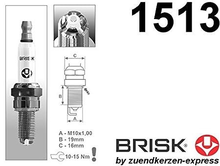 BRISK Premium Racing AOR10LGS 1513 Bujías de Encendido, 4 piezas: Amazon.es: Coche y moto
