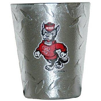 NCAA North Carolina State Wolfpack Shotglass, Diamond Plate