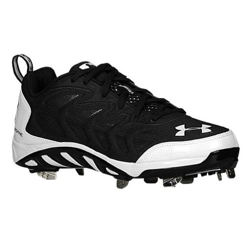 Under Armour Mens Spine Metal Baseball Cleats Black/White Size 12