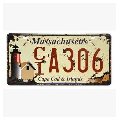 Massachusetts License Plate For Sale Only 4 Left At 75