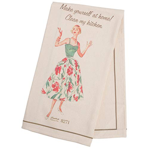 Simplicity Vintage 1940's Fashion 'Make Yourself at Home' Kitchen and Tea Towel, 21.5'' x 28''
