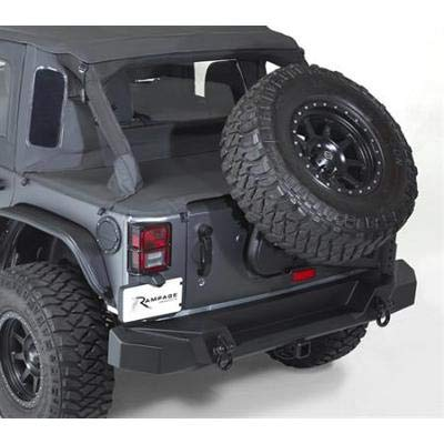 (RAMPAGE PRODUCTS 99606 Black Trail Guard Rear Bumper with Tire Carrier for Jeep JK)
