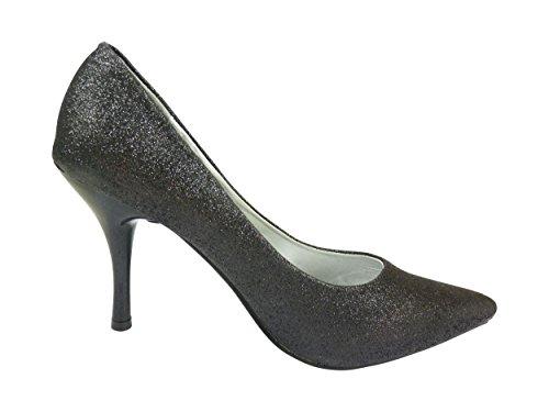 Chaussmaro - Zapatos de Vestir Mujer Negro - negro