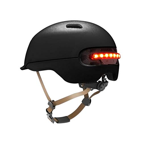 Smart LED Warning Flash Riding Helmet for Xiaomi M365 Electric Scooter and Other Electric Bicycles Or Motorcycles (28.2x22.4x16cm)