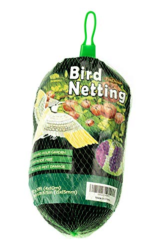 - PetiDream Bird Netting -Stops Hawks,Birds from Plants,Fruit Trees and Vegetables - Perfect as Garden Netting and Protective Net in 13ftx 33ft,Black