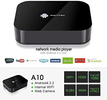 Keedox - Reproductor multimedia (Dual Core A10, Android 4.2, Mini PC Smart TV Box RAM XBMC,1080P, Wi-Fi, HDMI, enchufe europeo): Amazon.es: Electrónica