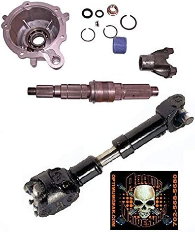 Slip Yoke Eliminator Kit SYE Package for Jeep Wrangler TJ LJ XJ Cherokee 231J T-cases Only 31, Heavy Duty Greaseable U-Joints Adams Driveshaft CUSTOM MADE Driveshaft with Rough Trail Crown
