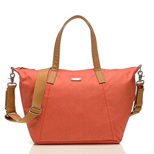 Storksak Noa Shoulder Bag Diaper Bag with Organizer, Coral