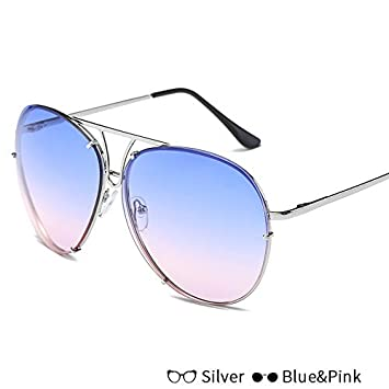 91b5164c38 BranXin - Luxury Fashion Lady Oversized Pilot Sunglasses Women 2017 New  Brand Designer Sun Glasses For