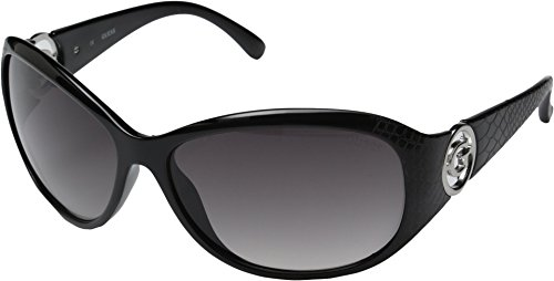 GUESS GU7309 Lenses are Not Polarzied Rectangle, Black/Smoke Gradient Lens, - Womens Guess Sunglasses