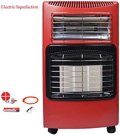 LTABCパティオヒーター液化ヒーター付き屋外ヒーター/デュアル使用の電気ヒーター、つまり、乾燥した無煙の360°加熱ステンレス鋼保護ネット多重保護