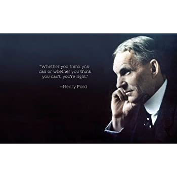 Amazon ConversationPrints Henry Ford Quote Glossy Poster Adorable Ford Quote