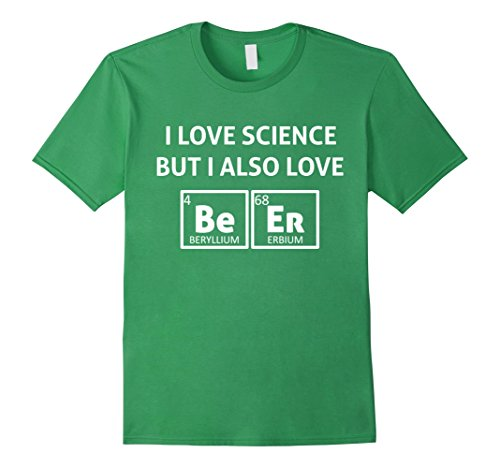 Mens I LOVE SCIENCE BUT I ALSO LOVE BEER Periodic Table T Shirt Large - Beer Table Table Beer