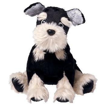 TY Beanie Baby - PRETZELS the Dog - Black and Tan Schnauzer