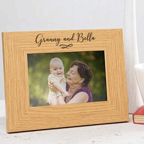 Personalised Grandparents Photo Frame Unique Engraved Wooden Picture Oak Veneer Grandparents Gifts from Grandchildren 6x4 7x5 8x6 Available