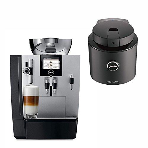 Jura 16367 IMPRESSA XJ9 Automatic Coffee Machine, Brilliant Silver with Jura 70384 Cool Control Basic, 20 Ounce