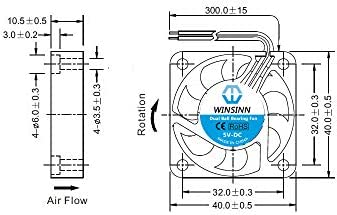 4010 24V DC Dual Ball Bearing Fan 40mm 40x40x10mm Brushless Cooling For Extruder