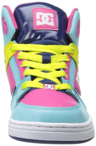 DC Shoes DC Shoes - Schuhe - REBOUND YOUTH SHOE - D0302676B-BBPD - black D0302676B/1 - Zapatillas de skate de cuero para niña Estate Blue/Citrus