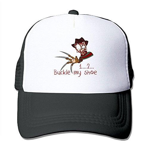Mieba Freddy Buckle My Shoe Mesh Hat Sun Trucker Sanpback Cap Hat -