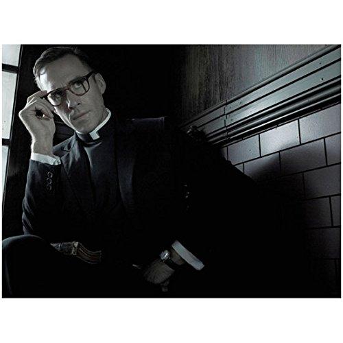 American Horror Story Asylum Joseph Fiennes as Monsignor Timothy Howard Seated Wearing Glasses 8 x 10 - Glasses Raben