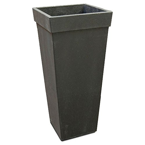 Smith & Hawken Pots - Recycled Square Tapered Planter, Black - Smith & Hawken