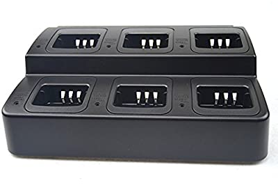 6 in 1 Rapid Battery Charger Six Slots for Kenwood Handheld Radio Li ion Battery KNB-45L TK-2200L TK-3200L