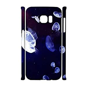 Perfect Fashion 3D Protective Shell Jellyfish Pattern Phone Case for Samsung Galaxy S7 Edge