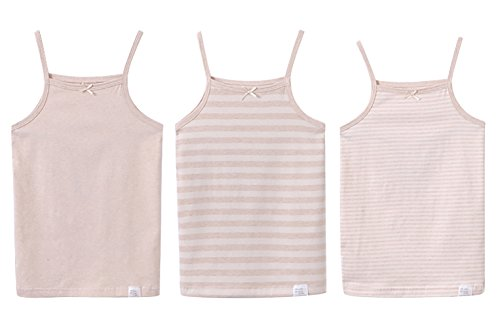 Zegoo Girls Nude Stripe Tagless Cami Super Soft Undershirts 3-Pack ()