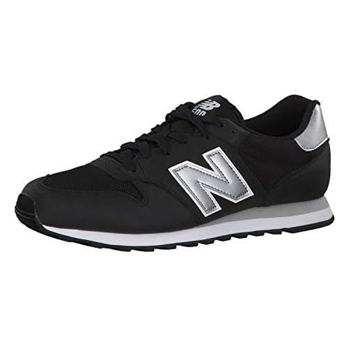 chollos oferta descuentos barato New Balance 500 Core Zapatillas para Hombre Negro Black Silver Black Silver 42 EU