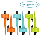 DxJ Adjustable Self Watering Spikes [2019 New Upgrade] - Plant Spikes System Plant Watering Devices with Slow Release Control Valve Switch Self Irrigation Watering Drip Devices for Outdoor Indoor Flower or Vegetabl(6 Pack)