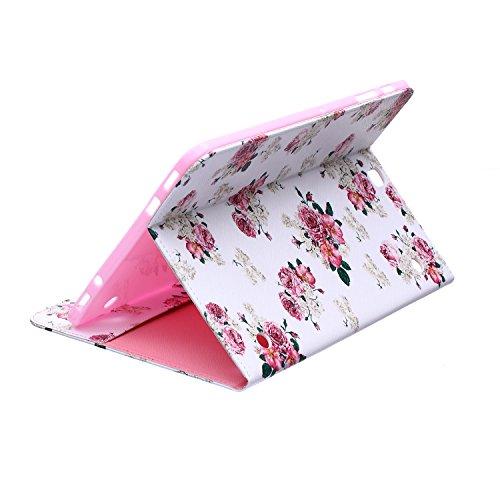 MACOOL PU cuero caja de la carpeta cubierta de la caja de la bolsa en el libro de estilo de silicona de nuevo caso de la pintura del color del teléfono móvil concha protectora Patrón Caja Cubierta de  01HUA