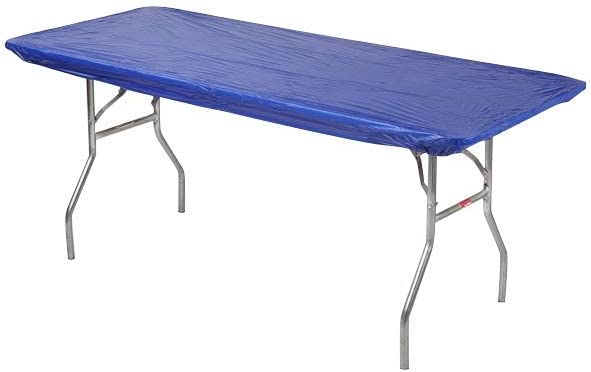 1 full case of 100 Kwik-Cover 1896-W 18 X 96 Kwik-Cover White Fitted Table Cover