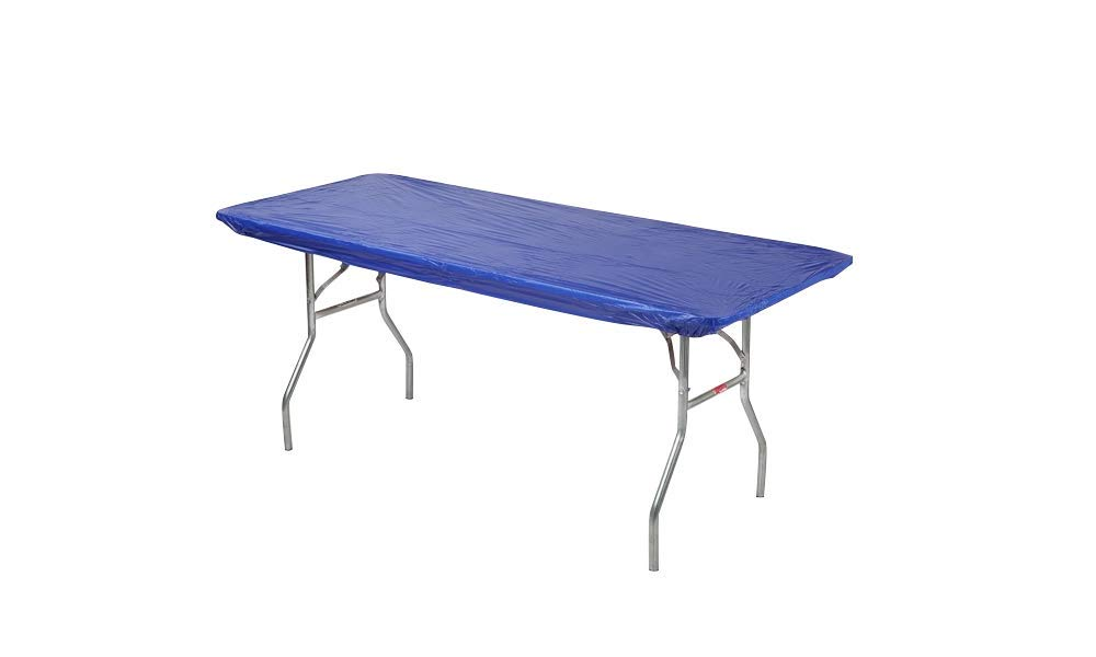 Kwik-Covers 8' Rectangle Plastic Table Covers 30'' x 96'', Bundle of 5 (Royal Blue) by Kwik-Covers