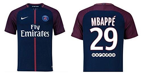 reputable site 6fc0c ca10c Men's jersey, Paris Saint-Germain 2017-2018 Home, Mbappé 29 ...