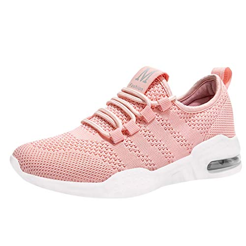 KESEELY Fashion Womens Sneakers Mesh Fitness Sport Running Shoes Student Shoes Pink