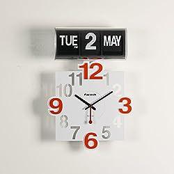 FARTECH Auto Calendar Flip Clock AD-801 (Orange)