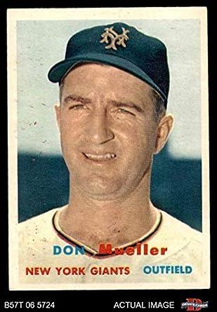 Amazoncom 1957 Topps 148 Don Mueller New York Giants Baseball