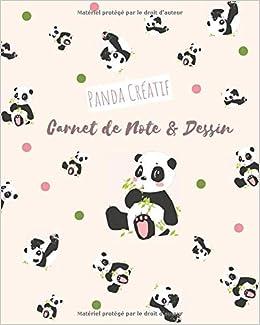 Panda Creatif Carnet De Note Et Dessin Kawaii Journal Mignon