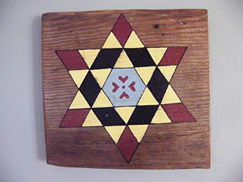 (Adonis554Dan Old Art Decor Wood Art Wooden Printed Art Decor Quilt Old Shiplap Signs Garden Art Porch Signs Rustic Primitive Reclaimed Wood Hanging Folk Art Americana)
