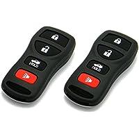 Pair of OEM Electronic Nissan 4-Button Keyless Entry Remote Fobs (FCC ID: KBRASTU15 / P/N: 28268-ZB700, ASTU15)