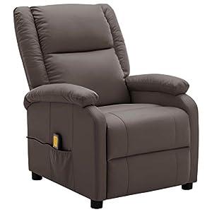 vidaXL Fauteuil de Massage Inclinable Fauteuil de Relaxation Inclinable Electrique Salon Salle de Séjour Maison…