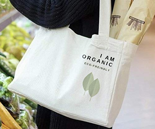 Reusable Grocery Shopping Bag, Deluxe Organic Cotton Eco-Friendly Wine Bottles Sleeves Cloth Tote Heavy Duty Washable, Durable Handles, Foldable, Craft & Gift bag, 6 Bottle Wine Bag Carrier