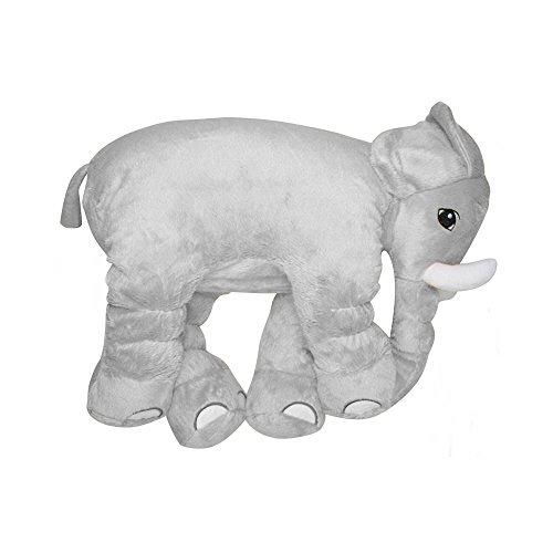 Almofada Elefante de Pelúcia Soft Média Cinza